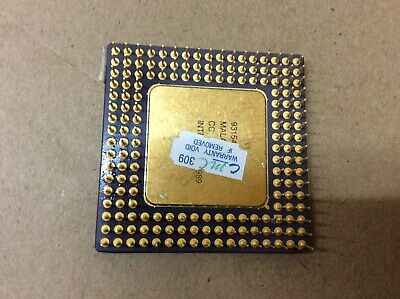 AU49 • Buy Collection Intel A80486DX-33Mhz GOLD Ceramic CPU Processor I486 Chip SX729