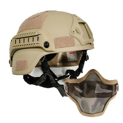 $31.09 • Buy Military Airsoft Tactical MICH2000 Simplified Action Combat Helmet W/Half Mask