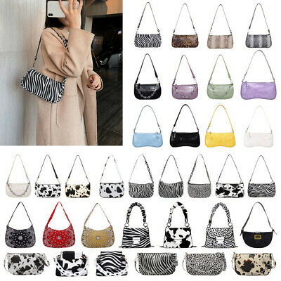 Retro Leather Women Shoulder Bag Animal Pattern Totes Travel Handbag Purse Bags • 6.79£