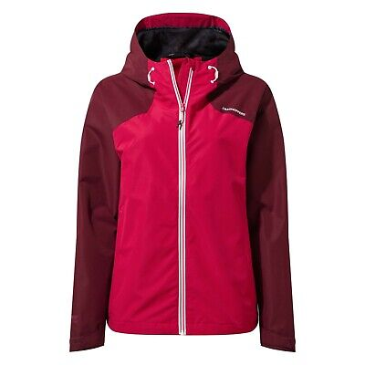 Craghoppers Womens Toscana Lightweight Waterproof Hooded Jacket Wildbery RRP £80 • 44.99£