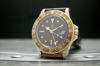 $ CDN15885.90 • Buy Rolex GMT-Master 18K Yellow Gold & Stainless Steel 1675 Root Beer Circa 1972