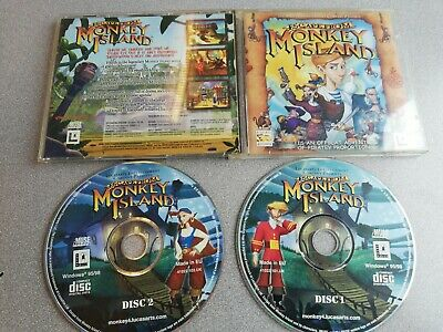 Escape From Monkey Island - Jewel Case PC CD-Rom Game 2x Discs VGC  • 9.99£