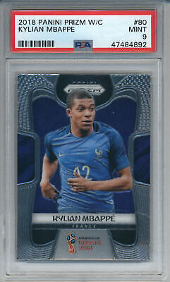 $ CDN533.94 • Buy 2018 Panini Prizm World Cup Kylian Mbappe #80 Rookie  France PSA 9