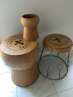 AU300 • Buy Bar Stool Champagne Cork Table, 3 Stool & Cooler Set  AS NEW, Unwanted Gift.