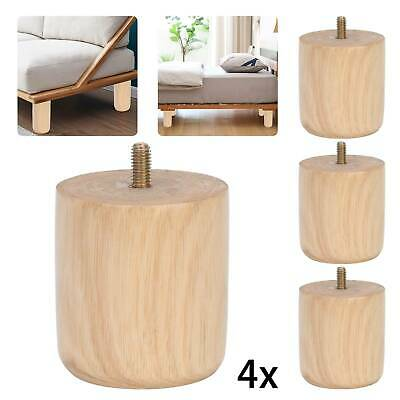 £7.59 • Buy 4x Wooden Sofa Legs Replacement Tapered Feet For Stool Bed Chair TURNED WOOD