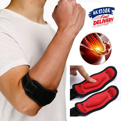 Tennis Elbow Support Gym Brace Golfers Strap Epicondylitis Band Clasp Arthritis • 5.69£