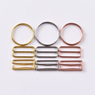 £3.95 • Buy 100set Bra Strap Rings And Sliders Strap Buckles Underwear Adjustment Accessory
