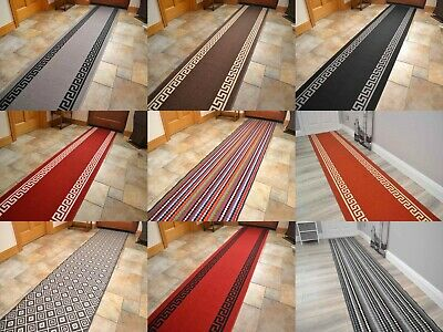 Very Long Wide Thin Hall Hallway Carpet Runner Rugs For Stairs Halls Corridors • 12£