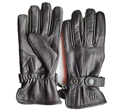 TG Motorcycle / Motorbike /Scooter Cowhide Leather  Gloves BLACK Colour • 13.99£