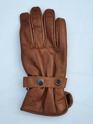 £13.99 • Buy TG Motorcycle / Motorbike /Scooter Cowhide Leather  Gloves Brown Colour S -XXL