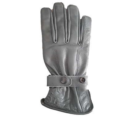 TG Motorcycle / Motorbike /Scooter Cowhide Leather  Gloves Grey Colour S -XXL • 9.99£