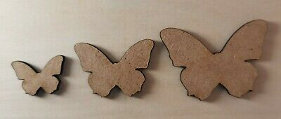 Wooden MDF Butterfly Shapes Craft X12 Mixed Sizes Embellishments  • 1.99£