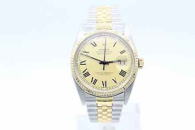 $ CDN8686.56 • Buy Rolex Datejust 16013 Steel & 18K Yellow Gold Buckley Dial Box And Papers.