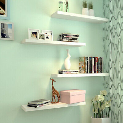 1 2 3 Floating Shelf Wooden Wall Mount Shelves Display Unit MDF Bookcase Storage • 23.98£
