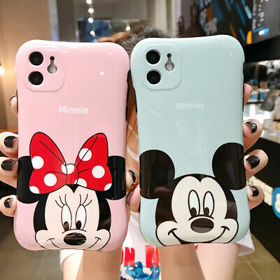 AU7.99 • Buy Cuet Disney Minnie Mickey Soft Shell Case Cover For IPhone 11 Pro XR XS Max 8 7