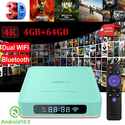 AU68.91 • Buy T95 6K 4+64G Android 10.0 TV BOX 2.4G WIFI Quad Core 3D Movies Home Media Player