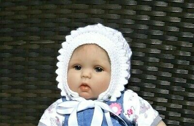 £5.25 • Buy Hand Knitted Traditional Baby Girls Bonnet / Hat VARIOUS COLOURS & SIZES
