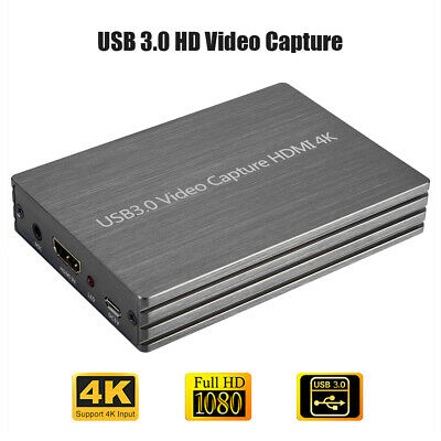 4K USB3.0 To HDMI Game Capture Card Grabber 1080P HD PC Video Capture Recorder • 47.47£