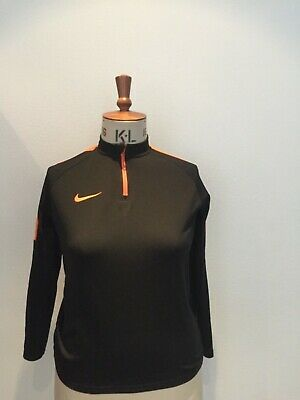 NIKE BLACK LONG SLEEVE TRACK TOP 13-15 Years BOYS SIZE XL • 22£