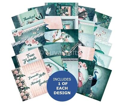 Hunkydory The Square Little Book Of Teal Treasures  5 X5  Sample Pack 25 Sheets • 2.99£