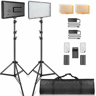 SAMTIAN LED Video Lighting Kit With Stand LED Camera Lighting 240pcs 3200/5600K • 116.65£