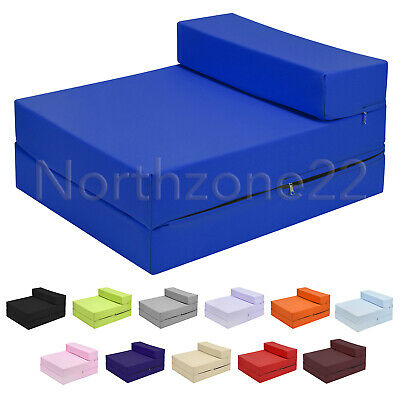 £38.99 • Buy Z Bed Futon Single Guest Bed Fold Out Mattress Foam Sofa Chair Bed Layabout Kid