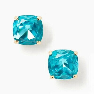 $ CDN34.44 • Buy Nwt Kate Spade Square Mini Stud Earrings $32 Green Blue Zircon