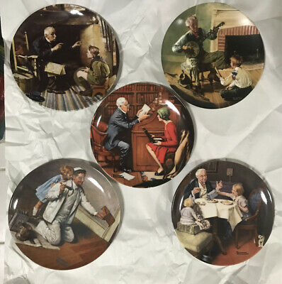 $ CDN38.24 • Buy Norman Rockwell Heritage Collector Plates •KNOWLES •Lot Of 5•Bradford Exchange