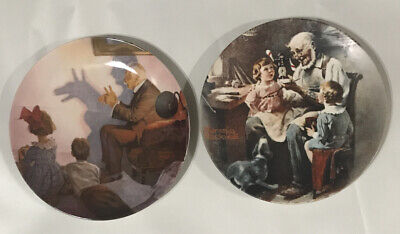 $ CDN12.94 • Buy Norman Rockwell Heritage Collector Plates •KNOWLES •Lot Of 2•Bradford Exchange