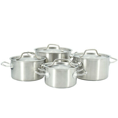 £23.50 • Buy 2/3/4/5L Stockpot Stainless Steel Cookware Cater Stew Soup Cooking Pot & Lid