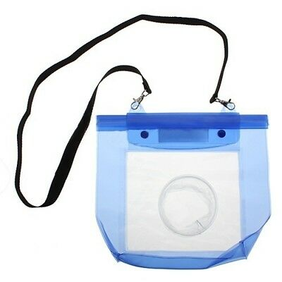 Waterproof DSLR/SLR Camera Pouch Dry Bag Underwater For Canon Nikon Blue 20M #NT • 5.29£