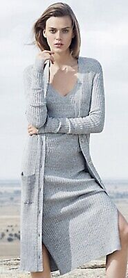 AU70 • Buy Country Road Grey Knit Dress And Long Cardigan SMALL