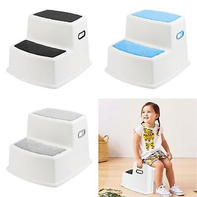 Kids Childrens Non Slip Dual Height Step Up Stool Toddlers Toilet Potty Training • 11.99£