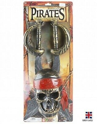 £8.10 • Buy Pirate Costume Sword & Skull Mask Fancy Dress Party Role Play Kids Toy P48801 UK