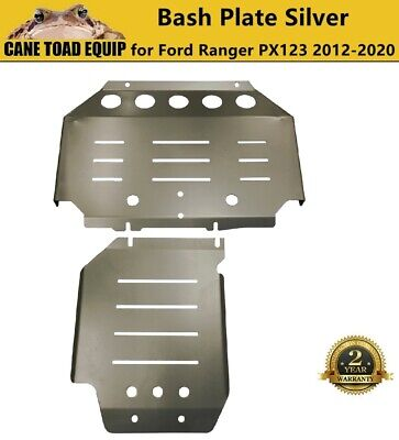 AU124.95 • Buy 2PCS 3mm Silver Bash Plate Front Sump Guard For Ford Ranger PX 1 2 3 2012-2020