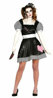 Womens Killer Doll Fancy Dress Costume Halloween Scary Spooky Gory Ladies Outfit • 15.39£