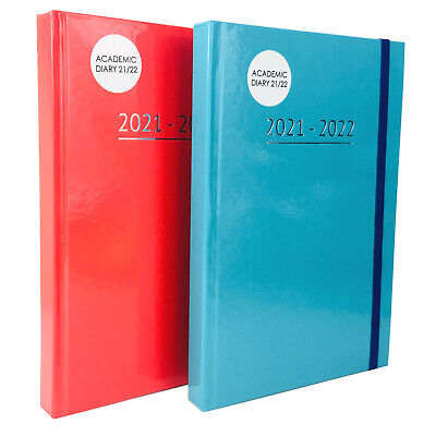 A5 Academic Diary 2020 2021 Day To Page Mid Year Hardback Student Teacher • 4.99£