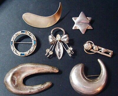 $ CDN48 • Buy Sterling Silver Scrap Or Not Lot Modernist Taxco Bolar Jewelart Old Pieces