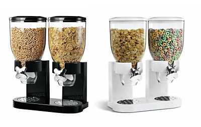 Airtight Double Twist Cereal Dispenser Keeps Dry Foods Fresh Hotel Kitchen • 14.99£