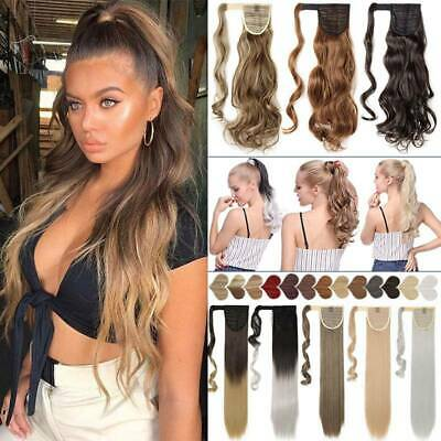 £8.96 • Buy Long Wavy Ponytail Thick Braid UK Hair Piece Tape Clip In Hair Extensions Ombre