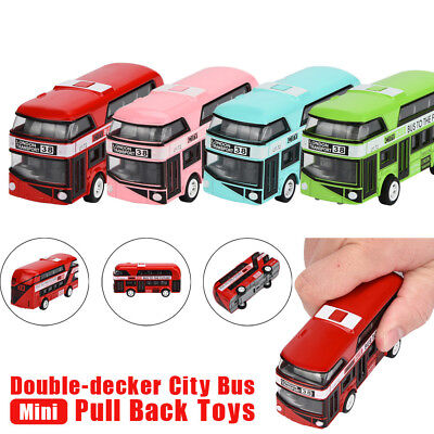 $ CDN11 • Buy Pull Back Bus Collection Model Double-decker Kids Alloy Die Cast City Funny Toy