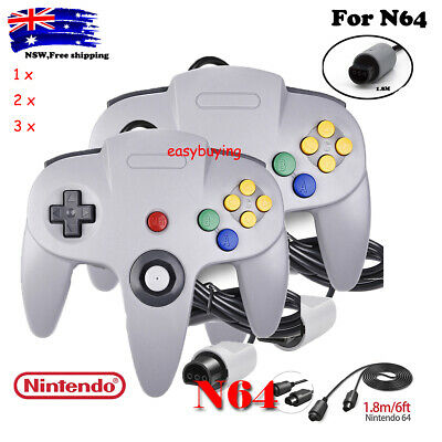 AU24.99 • Buy N64 Wired Controller Classic Gamepad Joystick For Nintendo 64 Video Game Console
