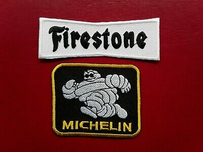 £4.95 • Buy FIRESTONE MICHELIN MAN TYRES CAR MOTORSPORT EMBROIDERED PATCHES X 2 UK SELLER