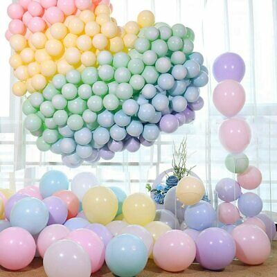 Macaron Pastel Balloons Rainbow Ballons Birthday Baby Shower Party Decoration UK • 5.49£