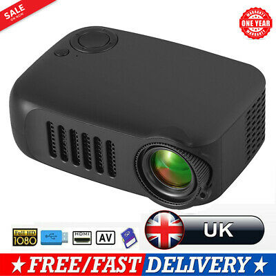 2020 LED 1080P Projector Home Theater Cinema USB HDMI AV SD Mini Portable UK • 35.89£