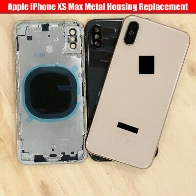 For IPhone XS Max Metal Frame Back Chassis Housing Rear Glass Cover Replacement • 43.99£