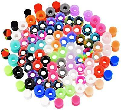 $7.39 • Buy Wholesale Silicone Ear Gauge Kits Flexible Ear Tunnels Plugs Earlets 7-20Pairs