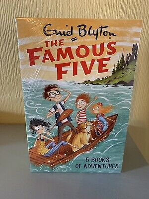 Famous Five Collection By Enid Blyton 1-5 Books Of Adventures Box Set BRAND NEW  • 18.50£