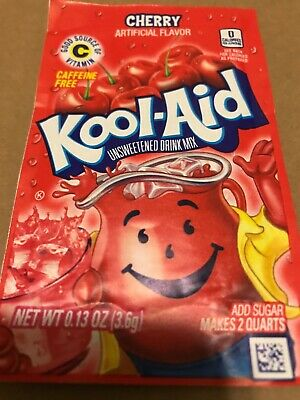 Cherry Red Kool-Aid Drink Mix 10 Packets Each Makes 2 Quarts .13oz • 8.43£