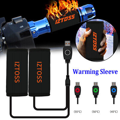 $16.98 • Buy Pair Motorcycle Bike USB Electric Heated Grip Handlebars Winter Warming Sleeve